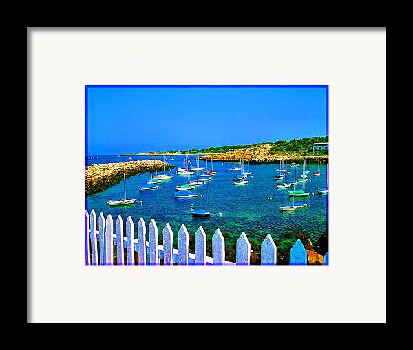 Seascape Framed Print featuring the photograph 2381 Rock Harbor by Ed Immar