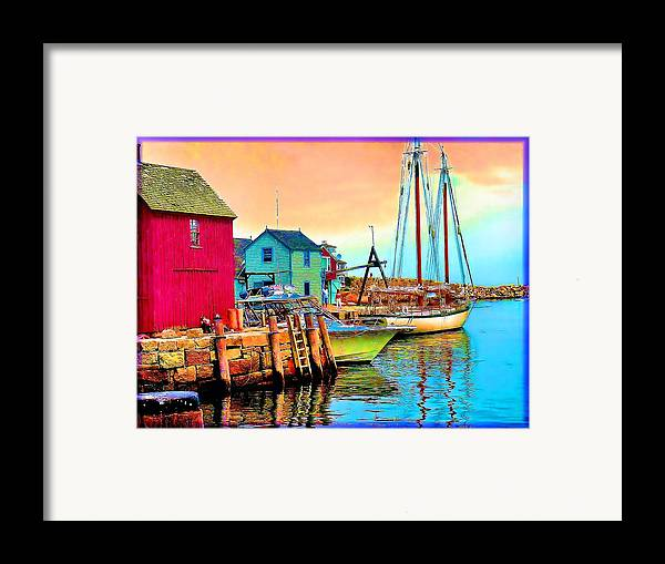 Framed Print featuring the painting 2449  Rockport by Ed Immar