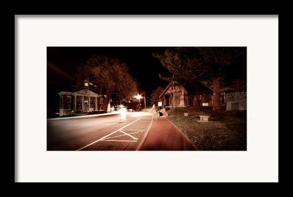 Long Island Framed Print featuring the photograph 25a East Bound by Michael Simeone