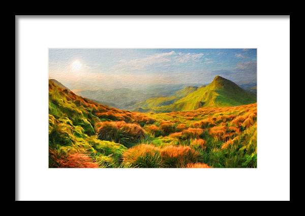 Landscape Framed Print featuring the painting Landscape Nature by World Map