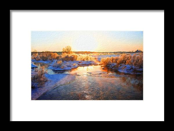 Landscape Framed Print featuring the painting Nature Landscape Pictures by World Map