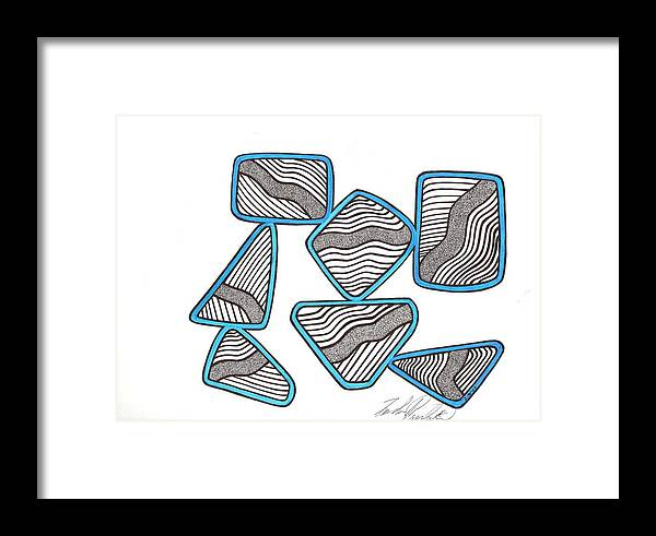 Abstract Framed Print featuring the drawing 29 by Freda Garland
