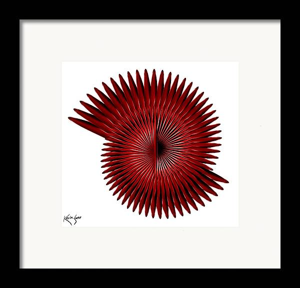 Spiral Framed Print featuring the digital art 2am Until 8am by Kevin Sherf