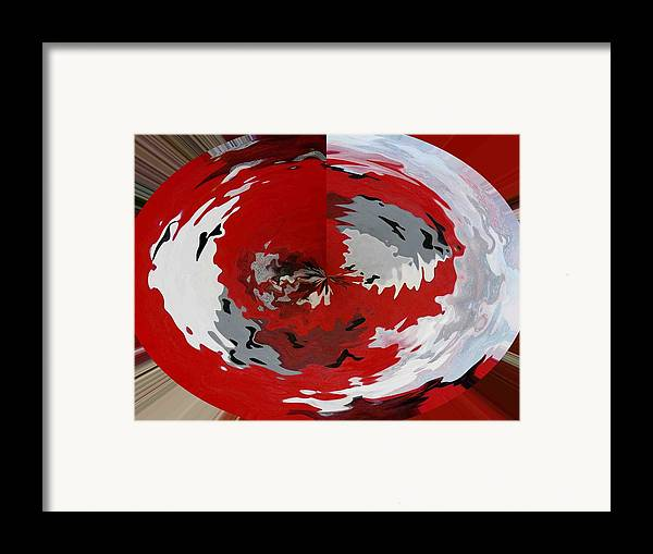 Framed Print featuring the print 2digital Transformation Of White Dice by Evguenia Men