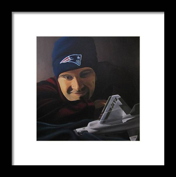 Patriots Framed Print featuring the painting . by Michael Holmes