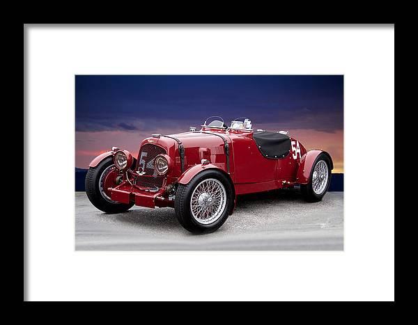 Aston Martin Vintage Racecar Framed Print By Dave Koontz - Aston martin vintage