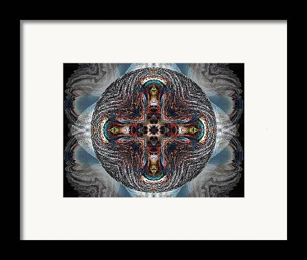 Spheres Framed Print featuring the digital art Spheres by Raynard Cantwell