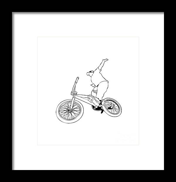 Motorcycle Framed Print featuring the digital art Bike Life by Sisuh Tiwul