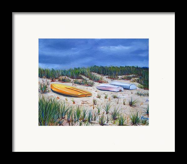 Cape Cod Framed Print featuring the painting 3 Boats by Paul Walsh