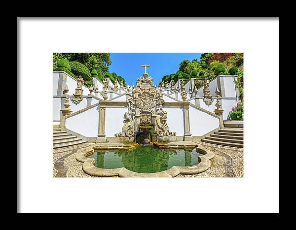 Braga Framed Print featuring the photograph Bom Jesus Staircase by Benny Marty
