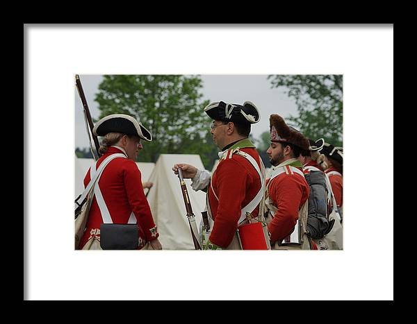 Revolutionary War Framed Print featuring the photograph British Camp by Carrie Goeringer