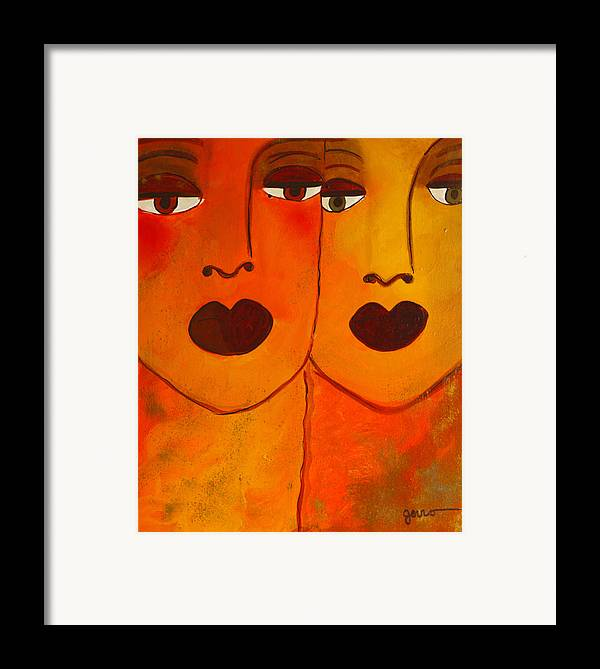 Faces Artwork Framed Print featuring the painting Cayenne by Helen Gerro