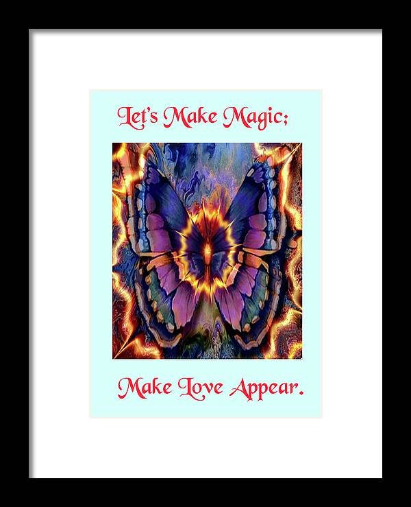 Greeting Cards Framed Print featuring the digital art Celestial Butterfly by Mitchell Watrous