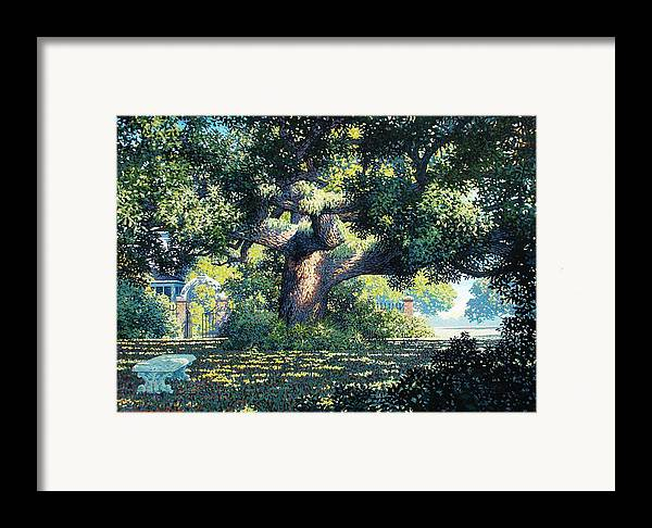 Landscape Framed Print featuring the painting Charlies Friend by Kevin Lawrence Leveque