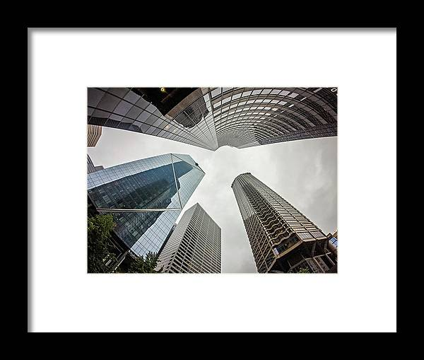 Seattle Framed Print featuring the photograph Cloudy And Rainy Day In Seattle Washington by Alex Grichenko