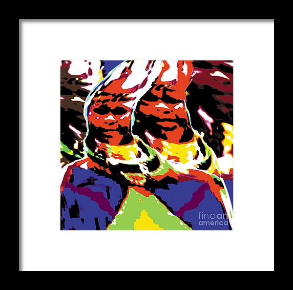 Africa Framed Print featuring the digital art Dr by Caddelle Faulkner