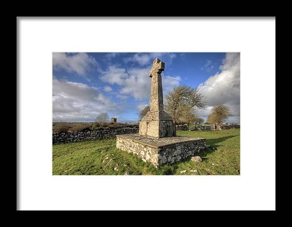 Dysert Framed Print featuring the photograph Dysert O Dea Celtic Cross by John Quinn