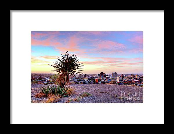 El Paso Framed Print featuring the photograph El Paso, Texas by Denis Tangney Jr