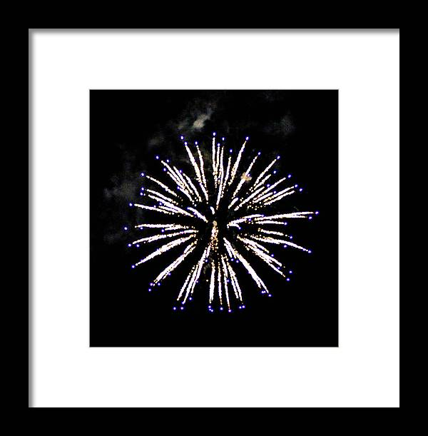 This Is A Photo Of One Of Many Fireworks At A Display I Went To In Maywood New Jersey. Framed Print featuring the photograph Firework Colors by William Rogers