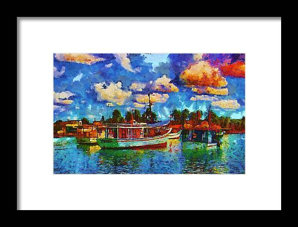 Fishing Boats Framed Print featuring the photograph Fishing Boats by Galeria Trompiz