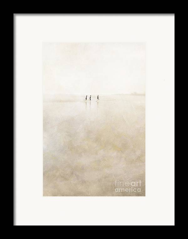 3 Framed Print featuring the photograph 3 Girls Running by Paul Grand