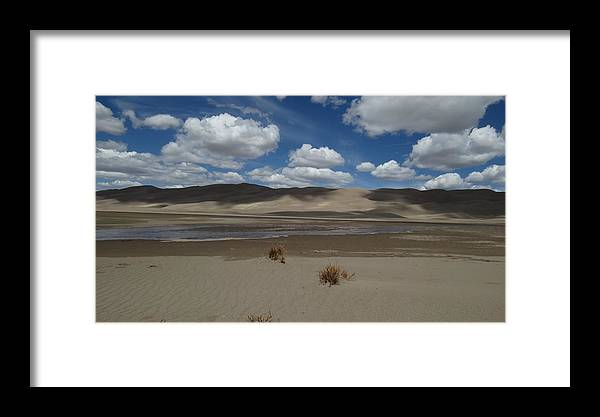 Great Sand Dunes Framed Print featuring the photograph Great Sand Dunes by Emily Hargreaves