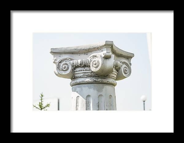 Greece Framed Print featuring the photograph Head Of Column by Alain De Maximy