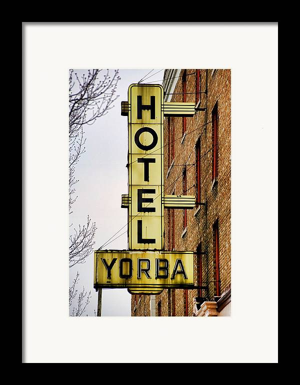 Hotel Yorba Framed Print featuring the photograph Hotel Yorba by Gordon Dean II