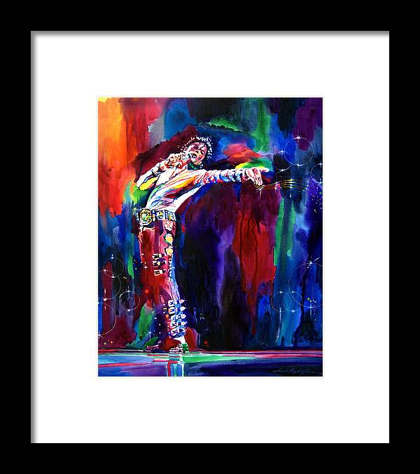 Michael Jackson Framed Print featuring the painting Jackson Magic by David Lloyd Glover