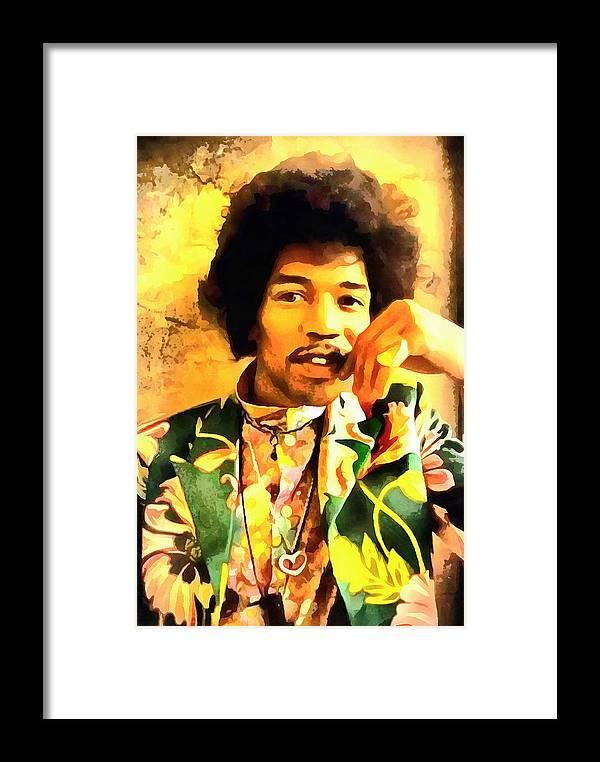 Jimmy Hendrix Framed Print featuring the digital art Jimmy Hendrix by Galeria Trompiz