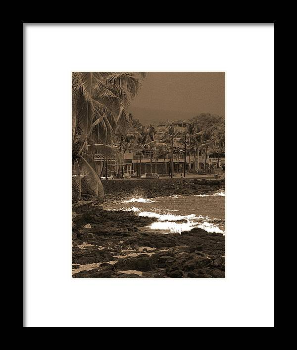 Landscape Framed Print featuring the photograph Kona by Athala Carole Bruckner