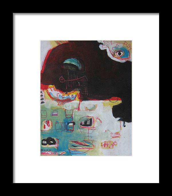 Abstract Paintings Framed Print featuring the painting Little Bay by Seon-Jeong Kim