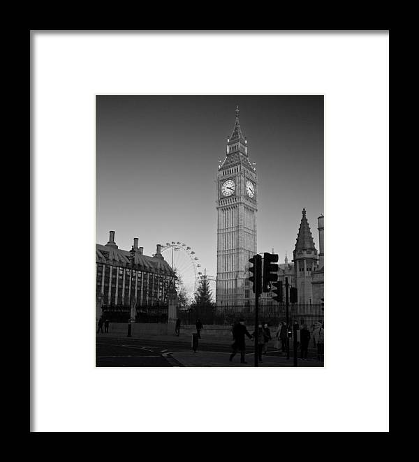 Westminster Framed Print featuring the photograph London Skyline Big Ben by David French