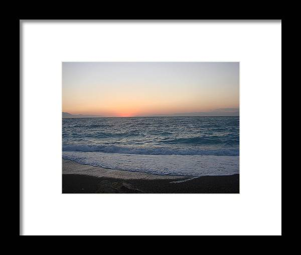 Framed Print featuring the photograph Loutraki by Helen Tomprou
