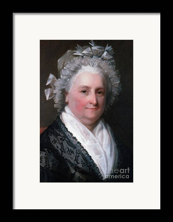 History Framed Print featuring the photograph Martha Washington, American Patriot by Photo Researchers