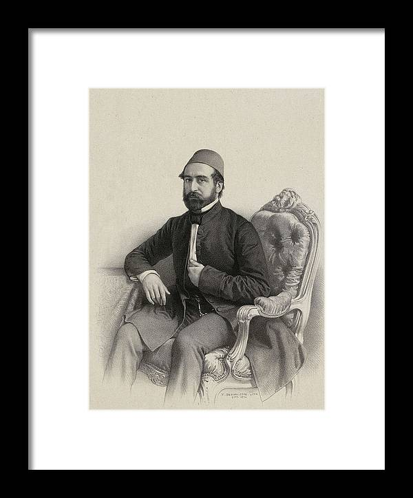 Mehmed Cemil Bey 1856 Framed Print featuring the painting Mehmed Cemil Bey by MotionAge Designs