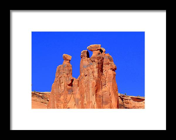 Moab Framed Print featuring the photograph Moab Landscape by Sarah Black