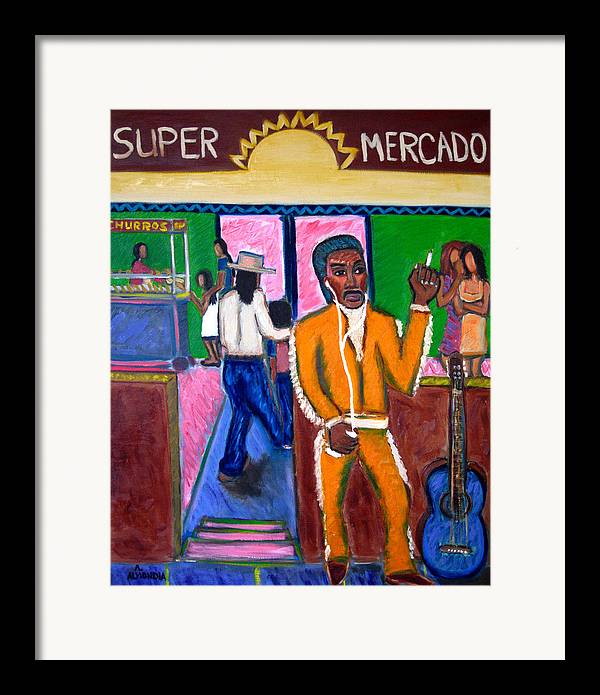 Music Framed Print featuring the painting Modern Mariachi by Albert Almondia