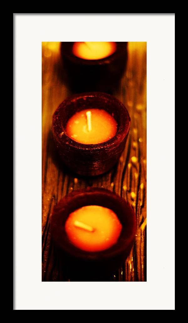 Candles Framed Print featuring the photograph 3 Of A Kind by Lounge Mode Production Art