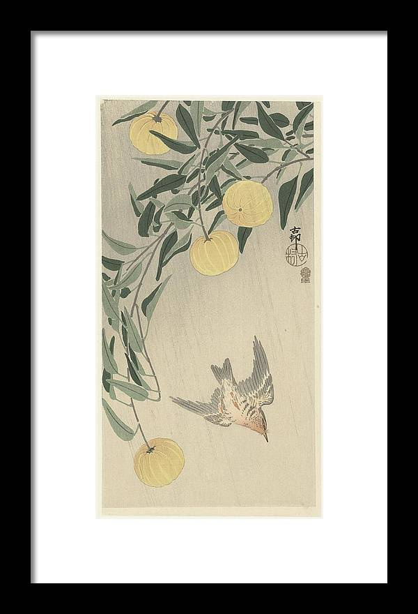 Koekoek In De Regen Framed Print featuring the painting Ohara Koson by Eastern Accent