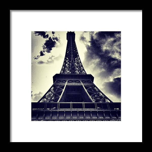 Instaaddict Framed Print featuring the photograph #paris by Ritchie Garrod