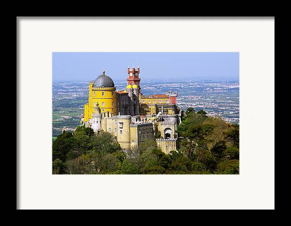 Arabian Framed Print featuring the photograph Pena Palace by Carlos Caetano