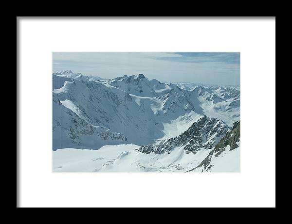 Pitztal Glacier Framed Print featuring the photograph Pitztal Glacier by Olaf Christian