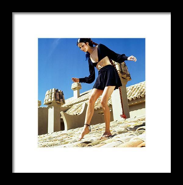 Fashion Framed Print featuring the digital art Portrait Of Marisa Berenson by Henry Clarke