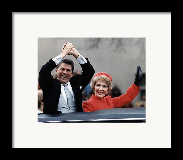 1980s Framed Print featuring the photograph President Ronald Reagan And First Lady by Everett