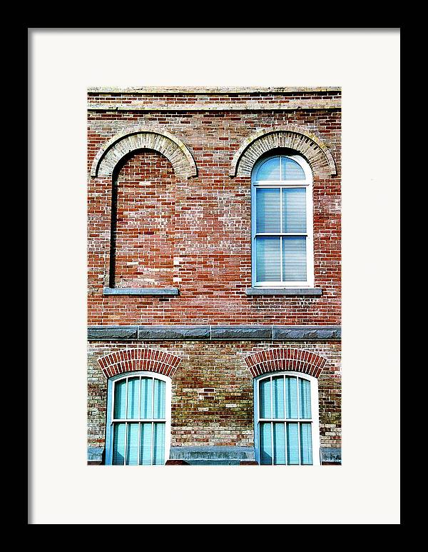 Architecture Framed Print featuring the photograph 3 Quarters by Caroline Clark