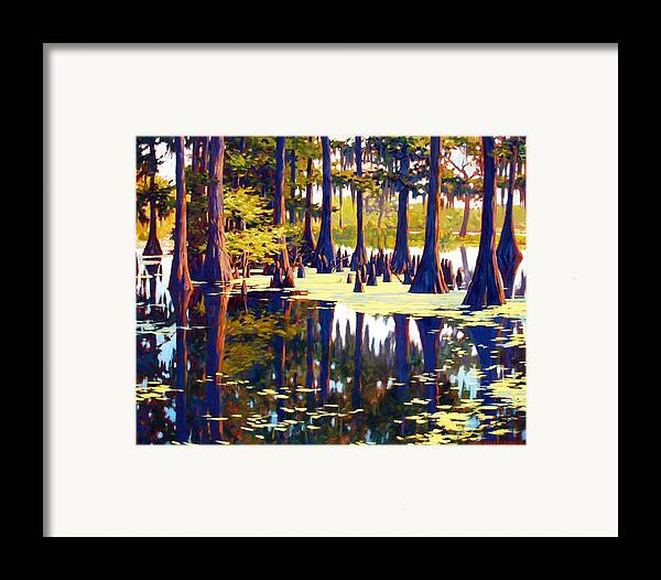 Swamp Framed Print featuring the painting Reflections by Kevin Lawrence Leveque