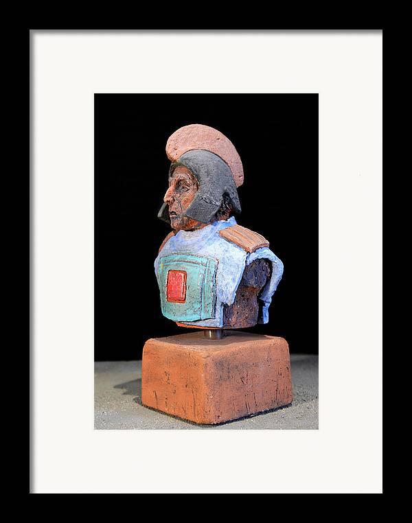 Warriors Framed Print featuring the sculpture Roman Legionaire - Warrior - Ancient Rome - Roemer - Romeinen - Antichi Romani - Romains - Romarere by Urft Valley Art