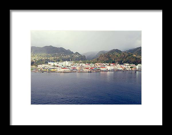 Dominica Framed Print featuring the photograph Roseau Dominica by Gary Wonning