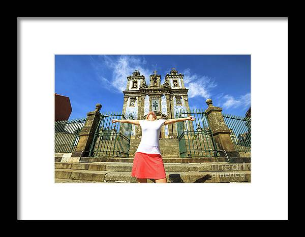 Porto Framed Print featuring the photograph Saint Ildefonso Church Enjoying by Benny Marty